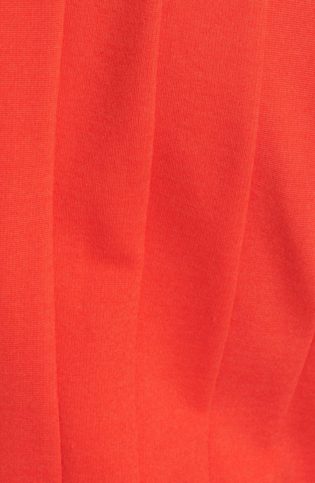 Alternate Image 5  - kate spade new york pleated ponte fit & flare dress