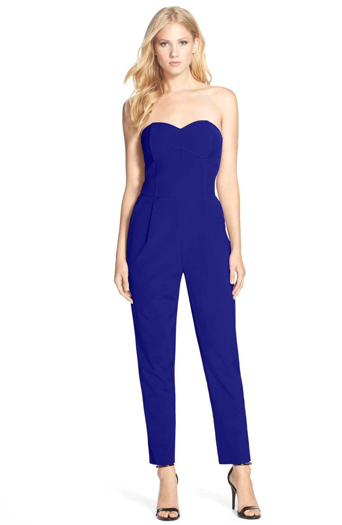 Alternate Image 1 Selected - Adelyn Rae Strapless Jumpsuit