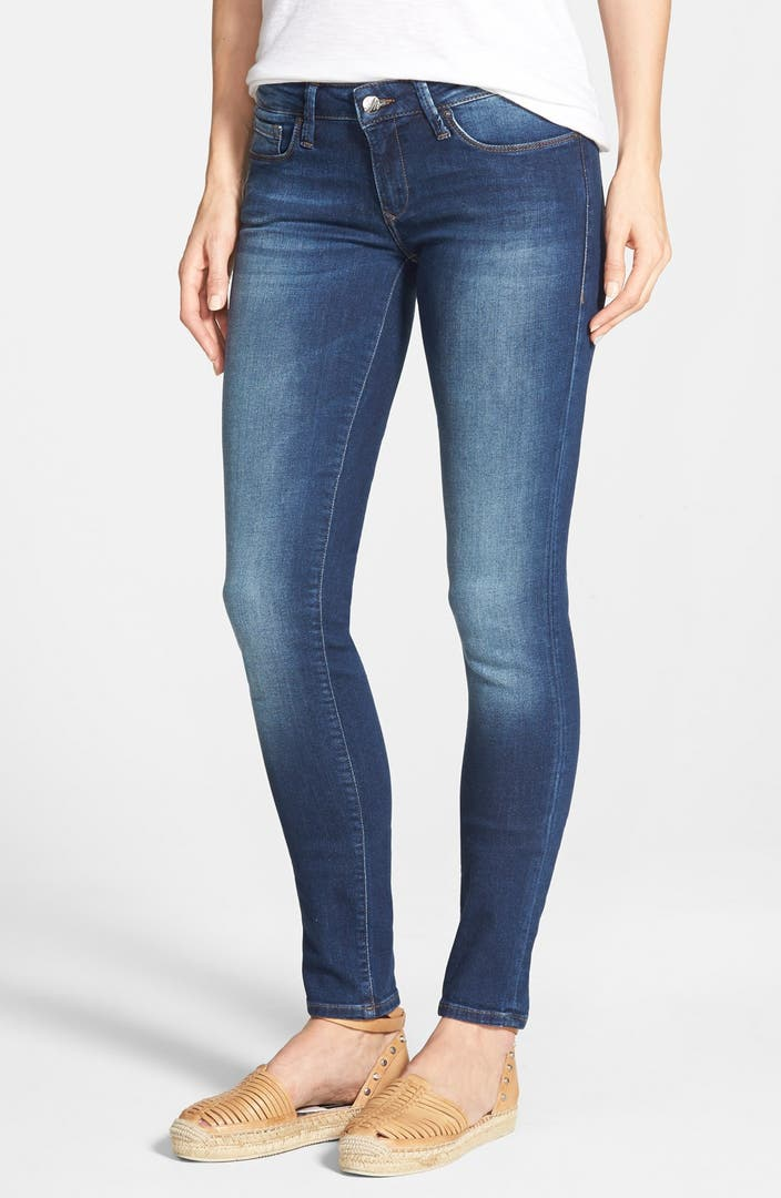 mavi jeans 39 serena 39 low rise stretch skinny jeans dark. Black Bedroom Furniture Sets. Home Design Ideas