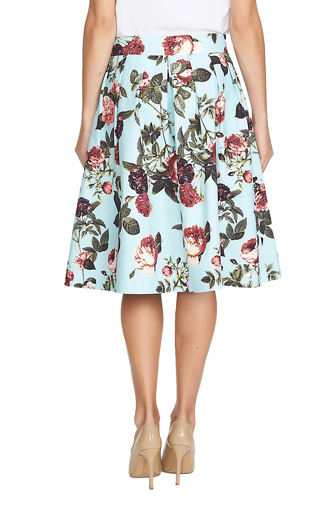 Alternate Image 2  - CeCe by Cynthia Steffe 'Bouquet Estate' Floral Print Full Skirt