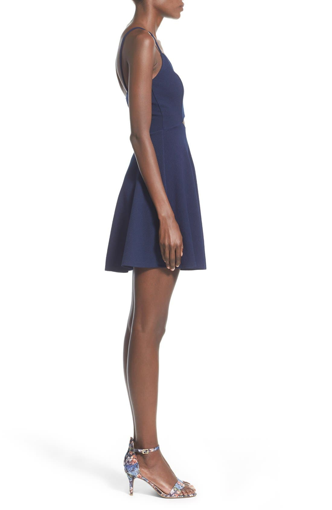 Alternate Image 3  - Soprano Front Cutout Skater Dress