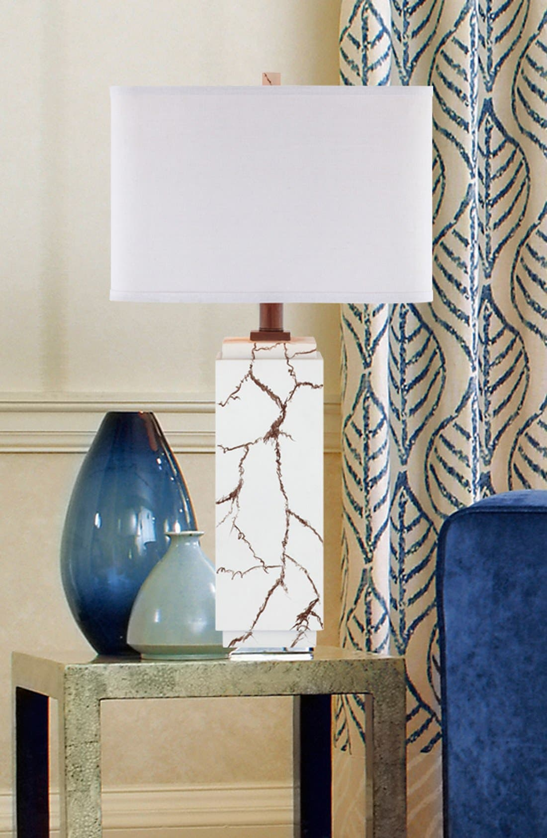 Alternate Image 2  - JAlexander Lighting Faux Howlite Table Lamp