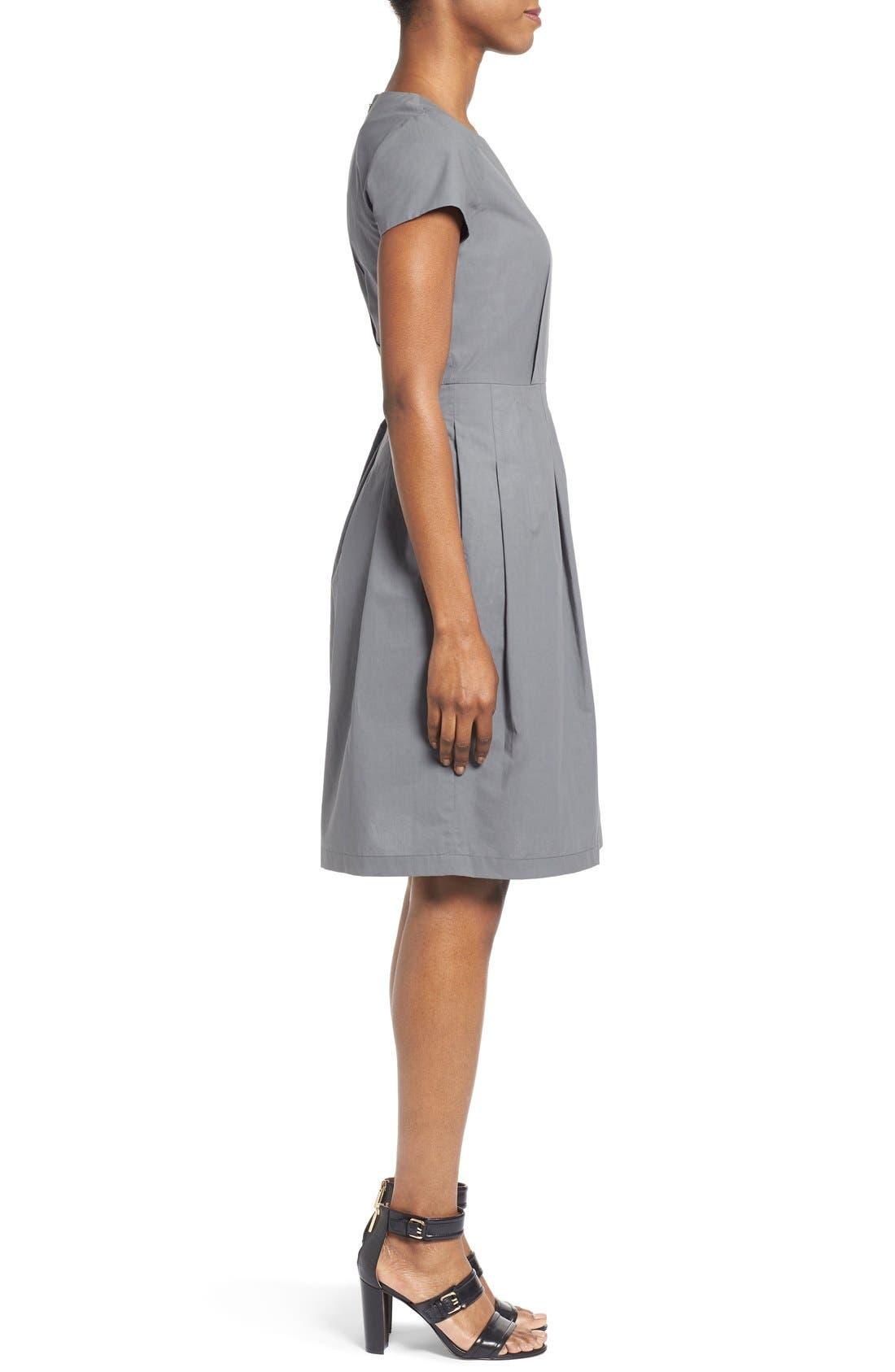 Alternate Image 4  - Lafayette 148 New York 'Gina' Cap Sleeve Fit & Flare Dress