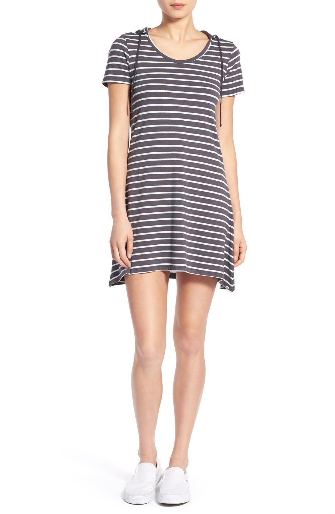 Main Image - Element Stripe Hooded Dress