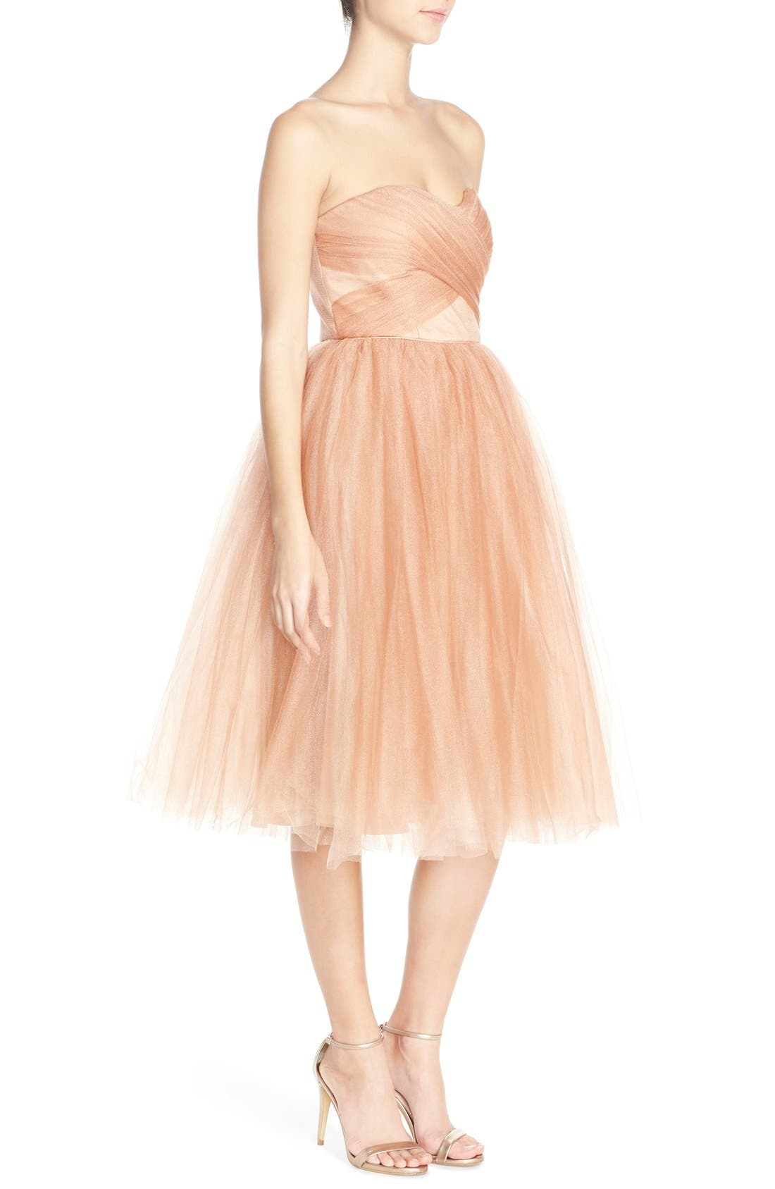 Alternate Image 3  - Donna Morgan 'Kenna' Strapless Tulle Fit & Flare Dress