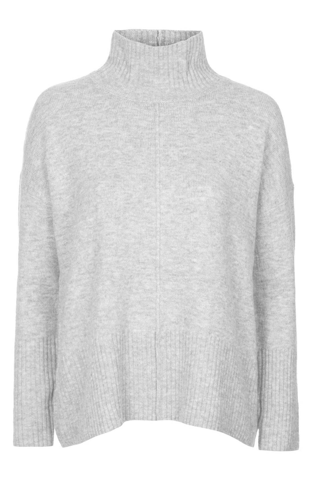 Alternate Image 4  - Topshop Oversize Funnel Neck Sweater