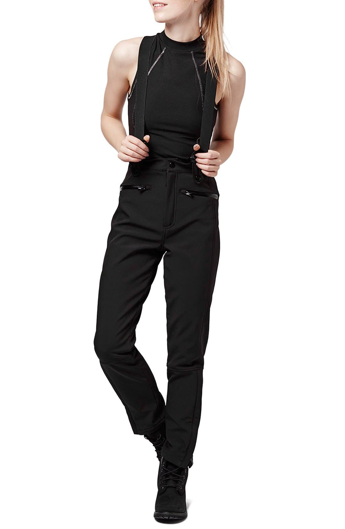 Alternate Image 1 Selected - Topshop 'Tyrian' Overall Ski Pants