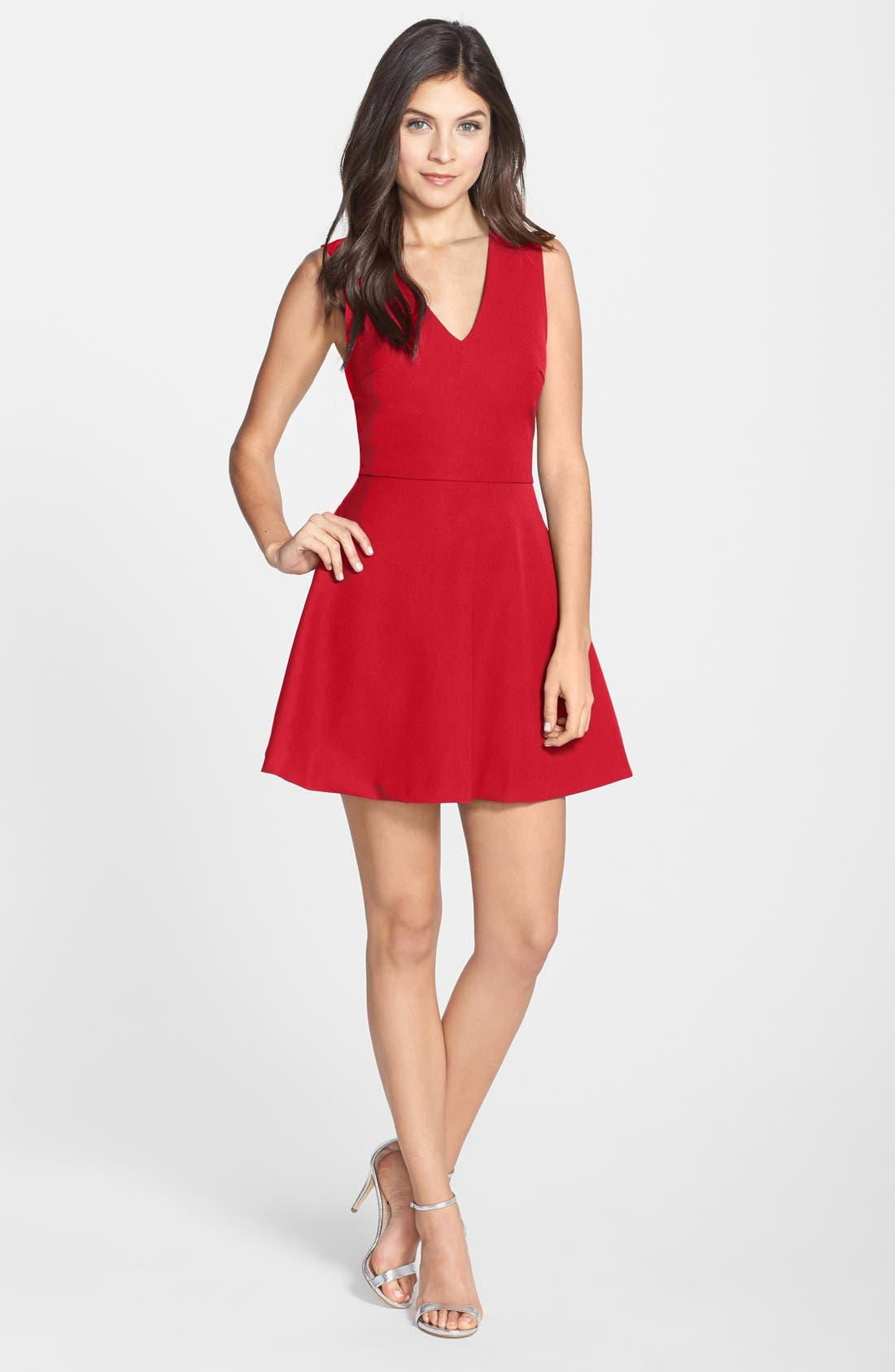 Main Image - Felicity & Coco Bianca Back Cutout Fit & Flare Dress (Regular & Petite) (Nordstrom Exclusive)