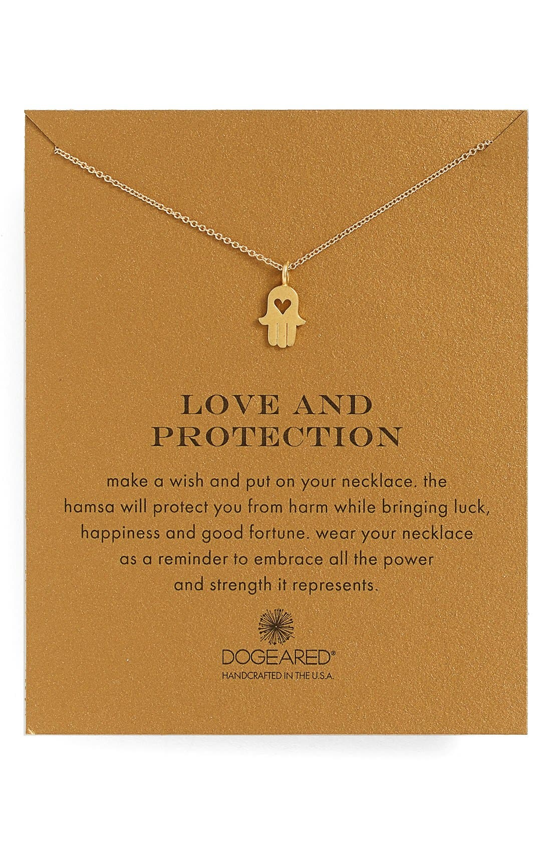 Main Image - Dogeared 'Love and Protection' Pendant Necklace