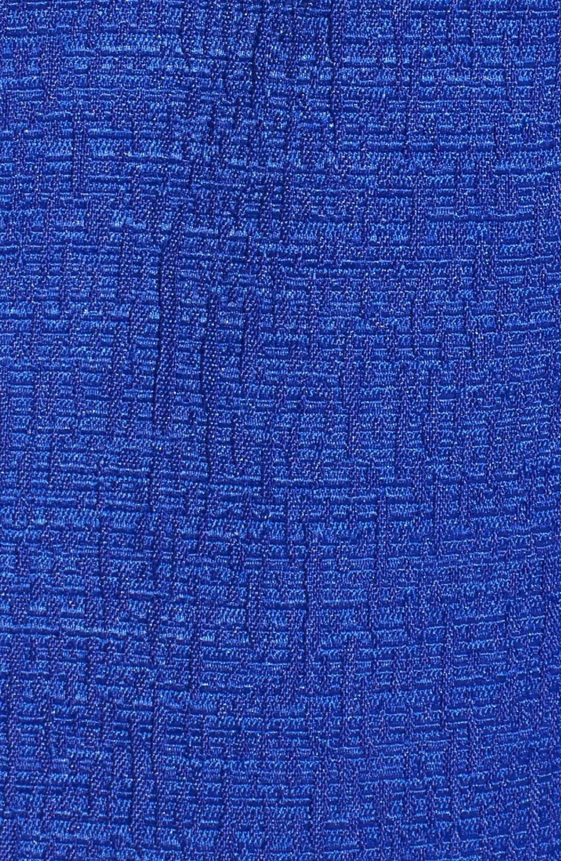 Alternate Image 6  - Adrianna Papell Cap Sleeve Jacquard Sheath Dress