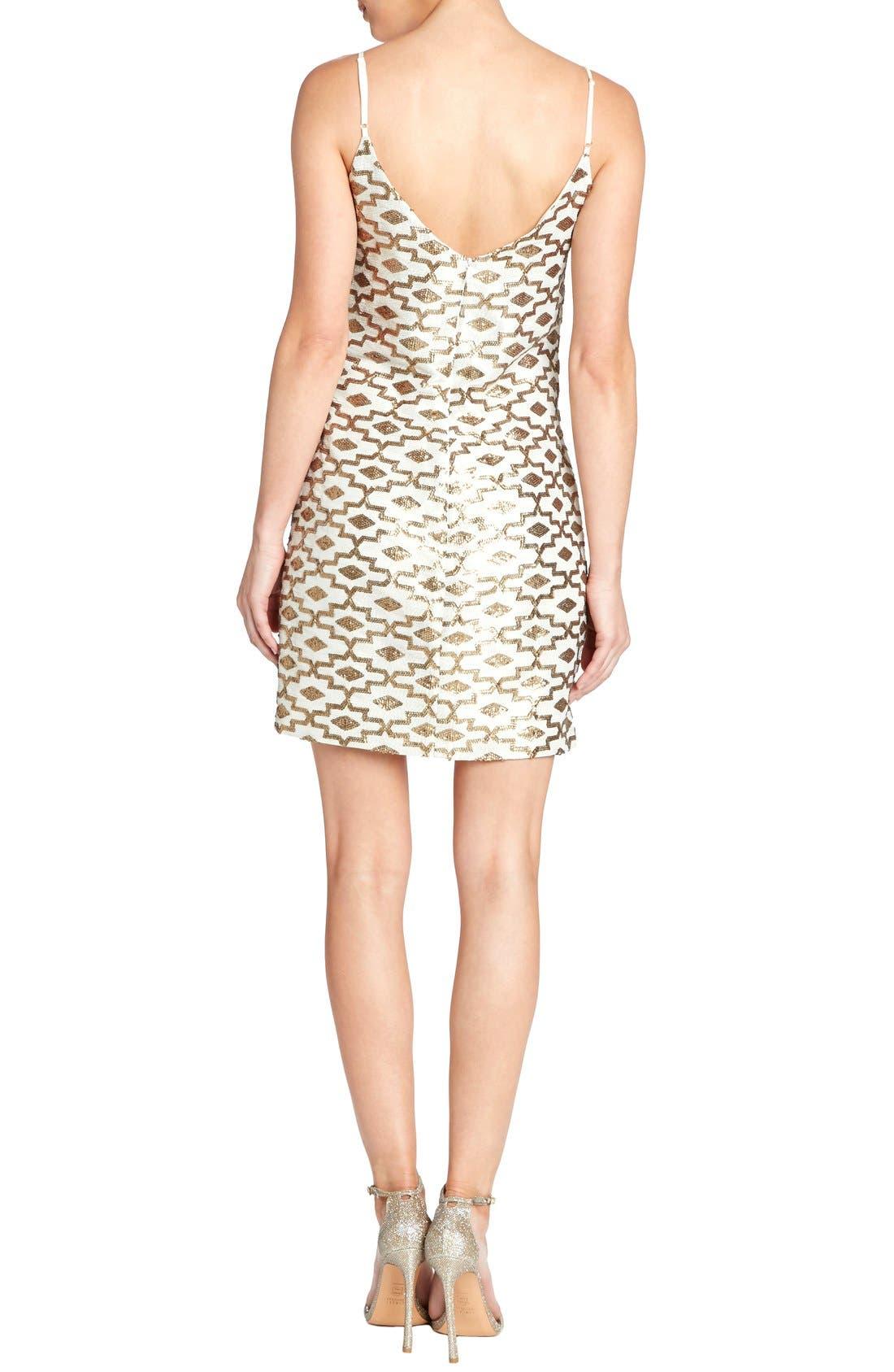 Alternate Image 2  - Dress the Population 'Adriana' Sequin Chiffon Slip Dress