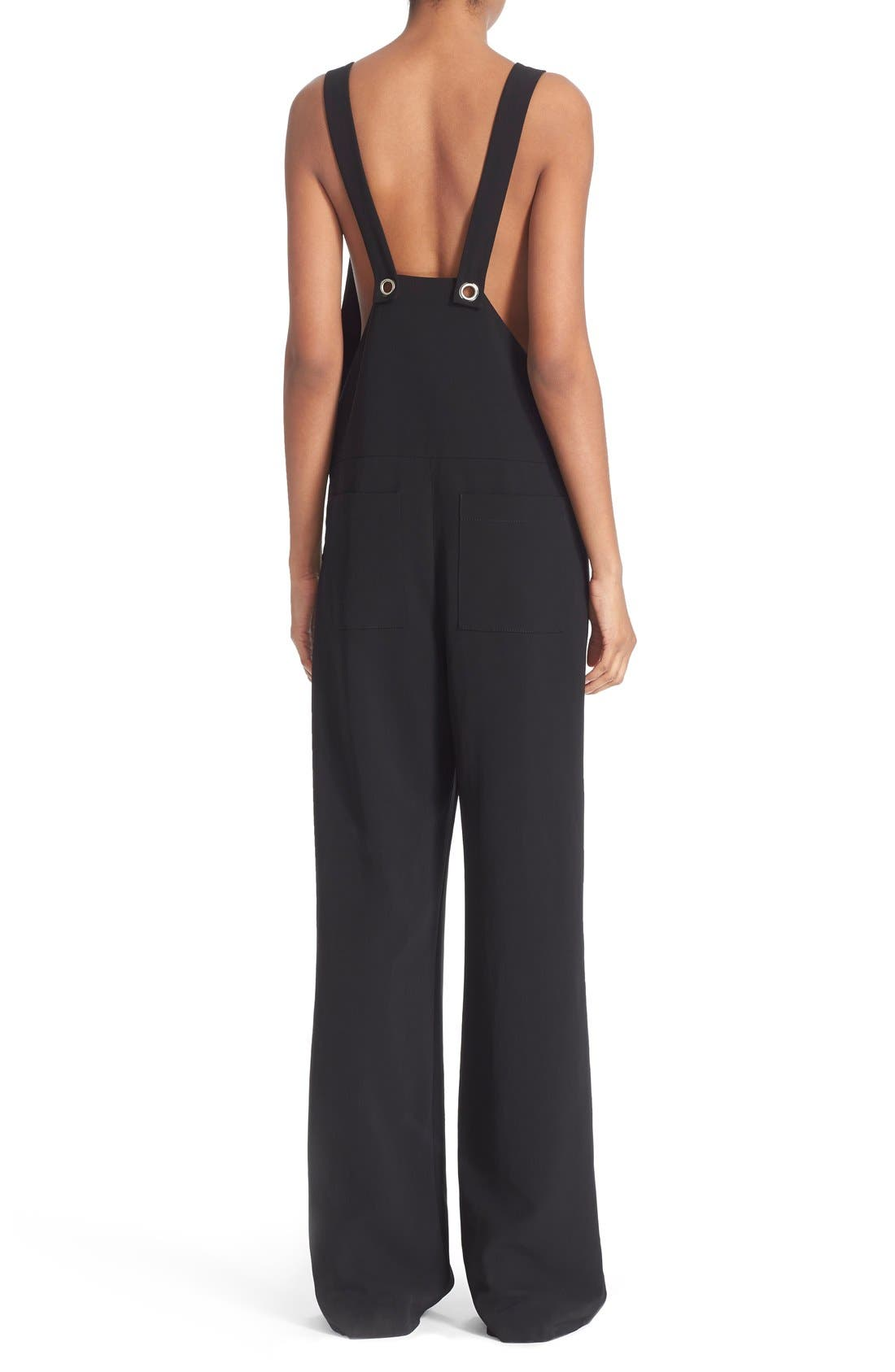 Alternate Image 2  - T by Alexander Wang Twill Jumpsuit with Strap Detail