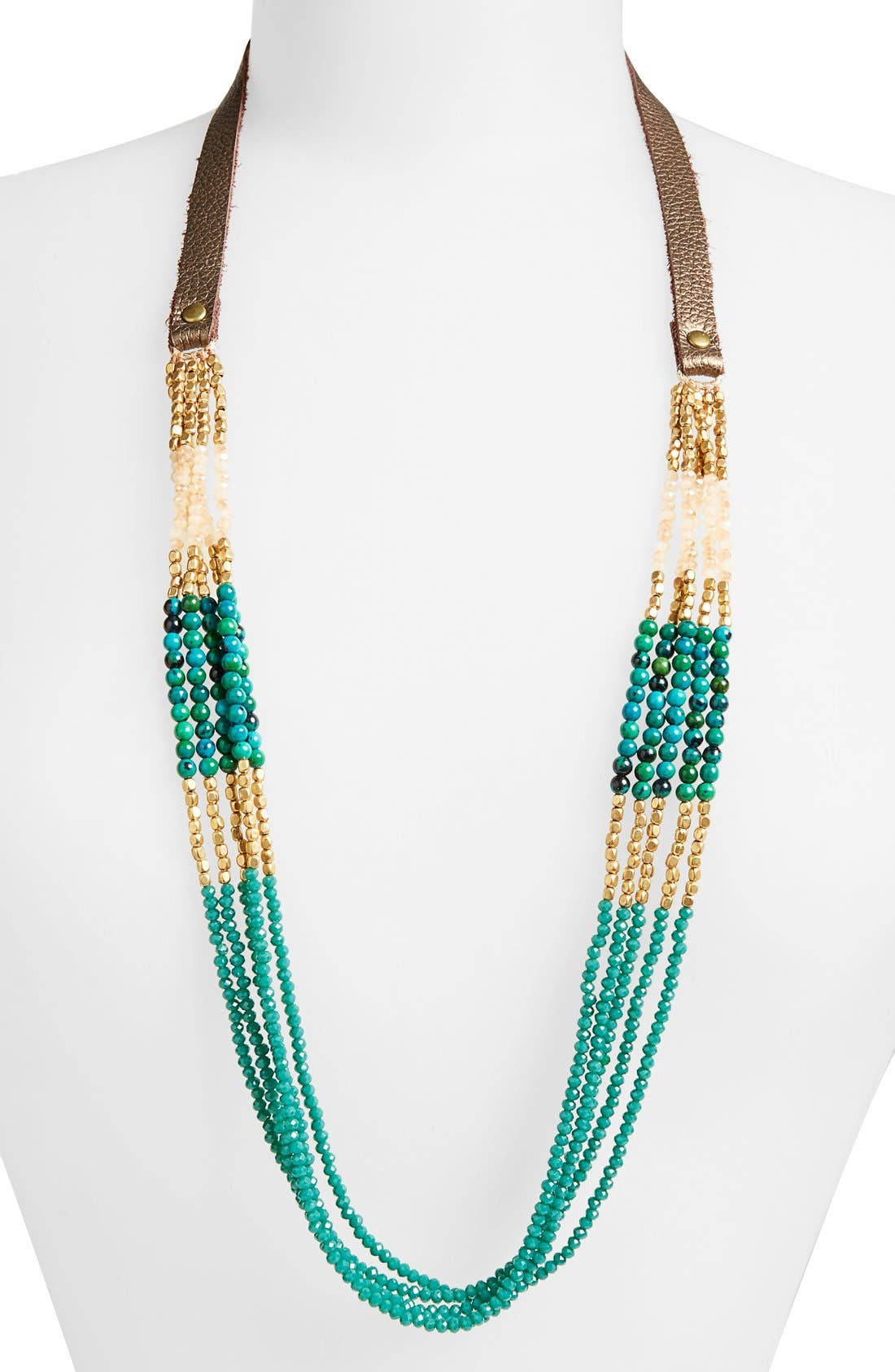 Main Image - Panacea Crystal & Stone Multistrand Necklace