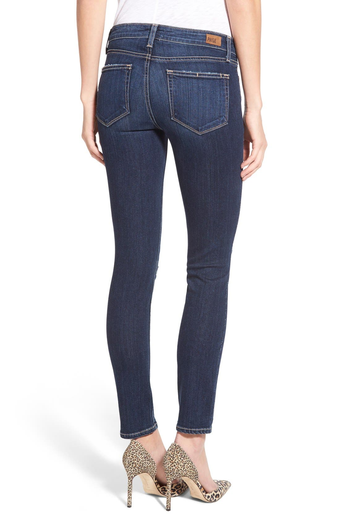 Alternate Image 2  - Paige Denim 'Skyline' Ankle Peg Jeans (Elia Deconstructed)