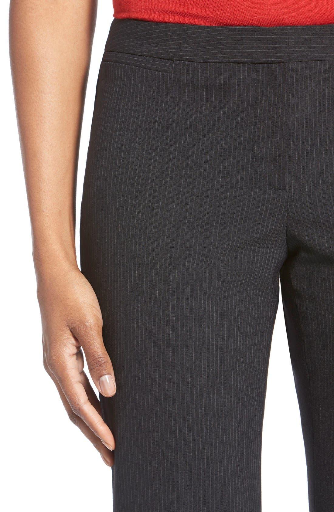 Alternate Image 5  - Halogen® Pinstripe Stretch Suit Pants (Regular & Petite)