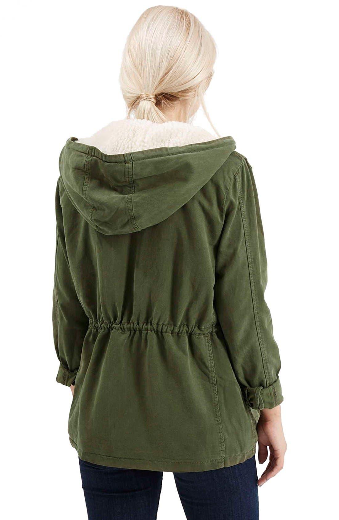 Alternate Image 3  - Topshop 'Esme' Faux Fur Lined Parka