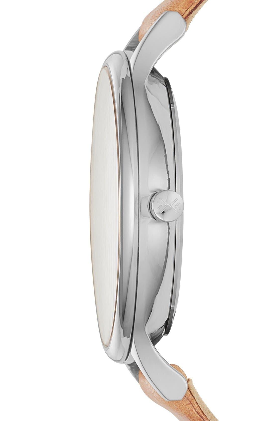 Alternate Image 2  - Skagen 'Anita' Leather Strap Watch, 34mm
