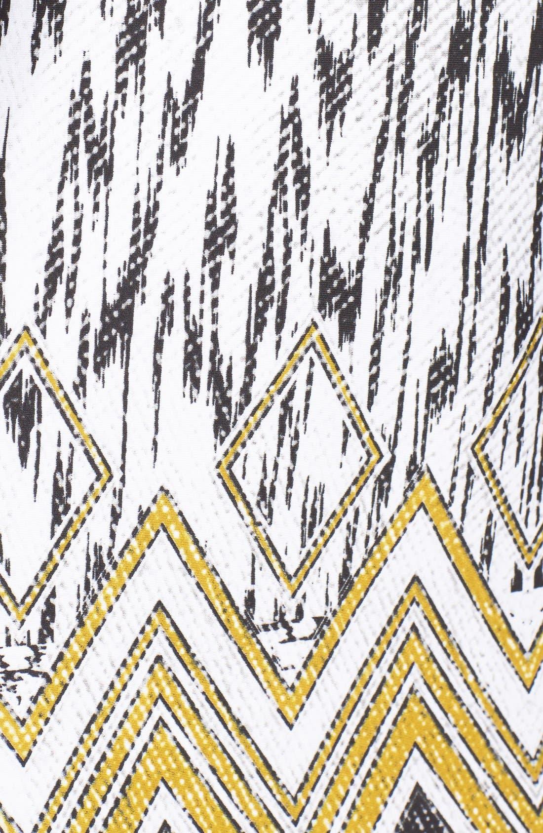 Alternate Image 5  - Ellen Tracy Chevron Print Jersey Sheath Dress