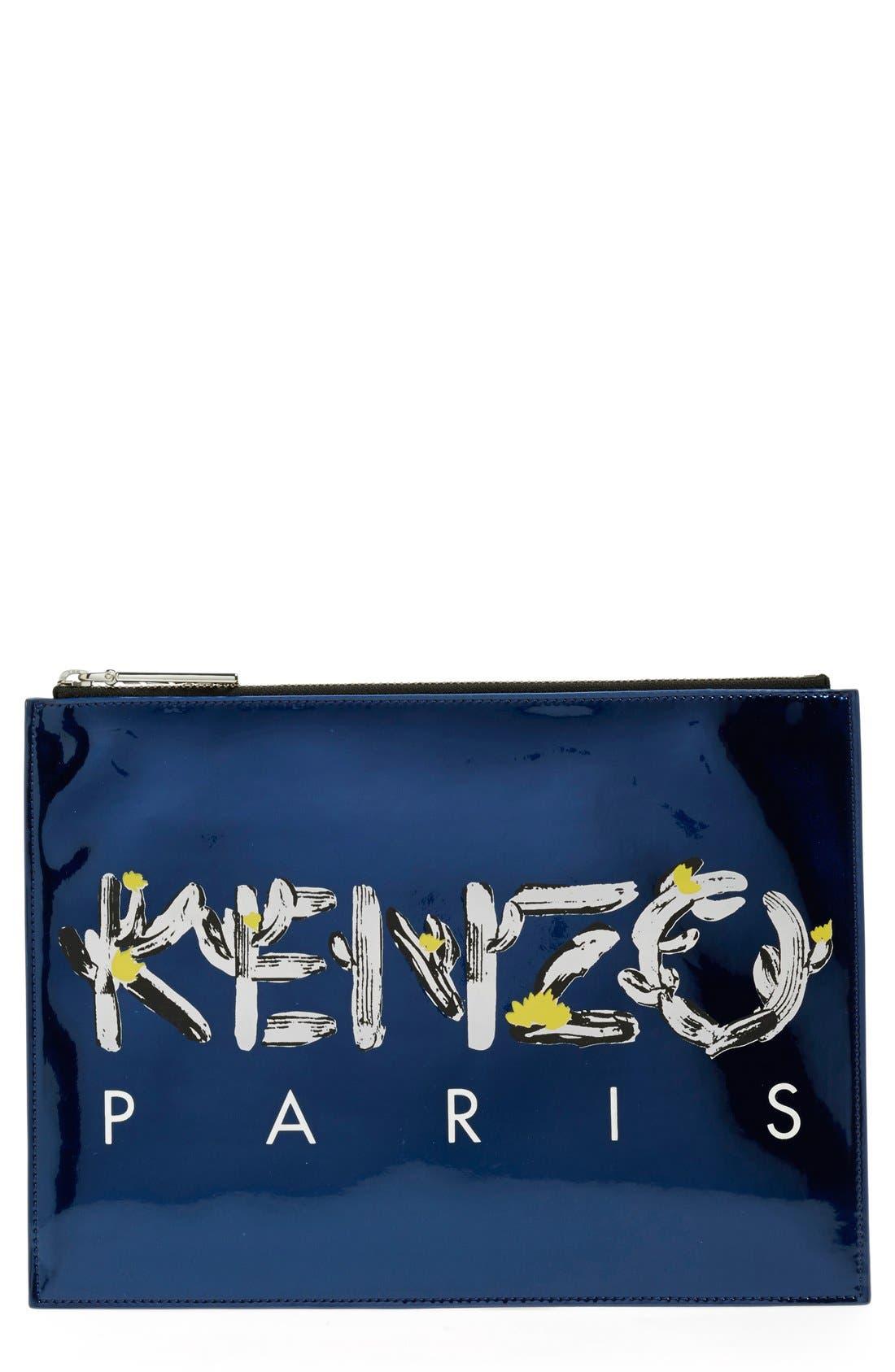 Main Image - KENZO Cactus Logo Zip Pouch