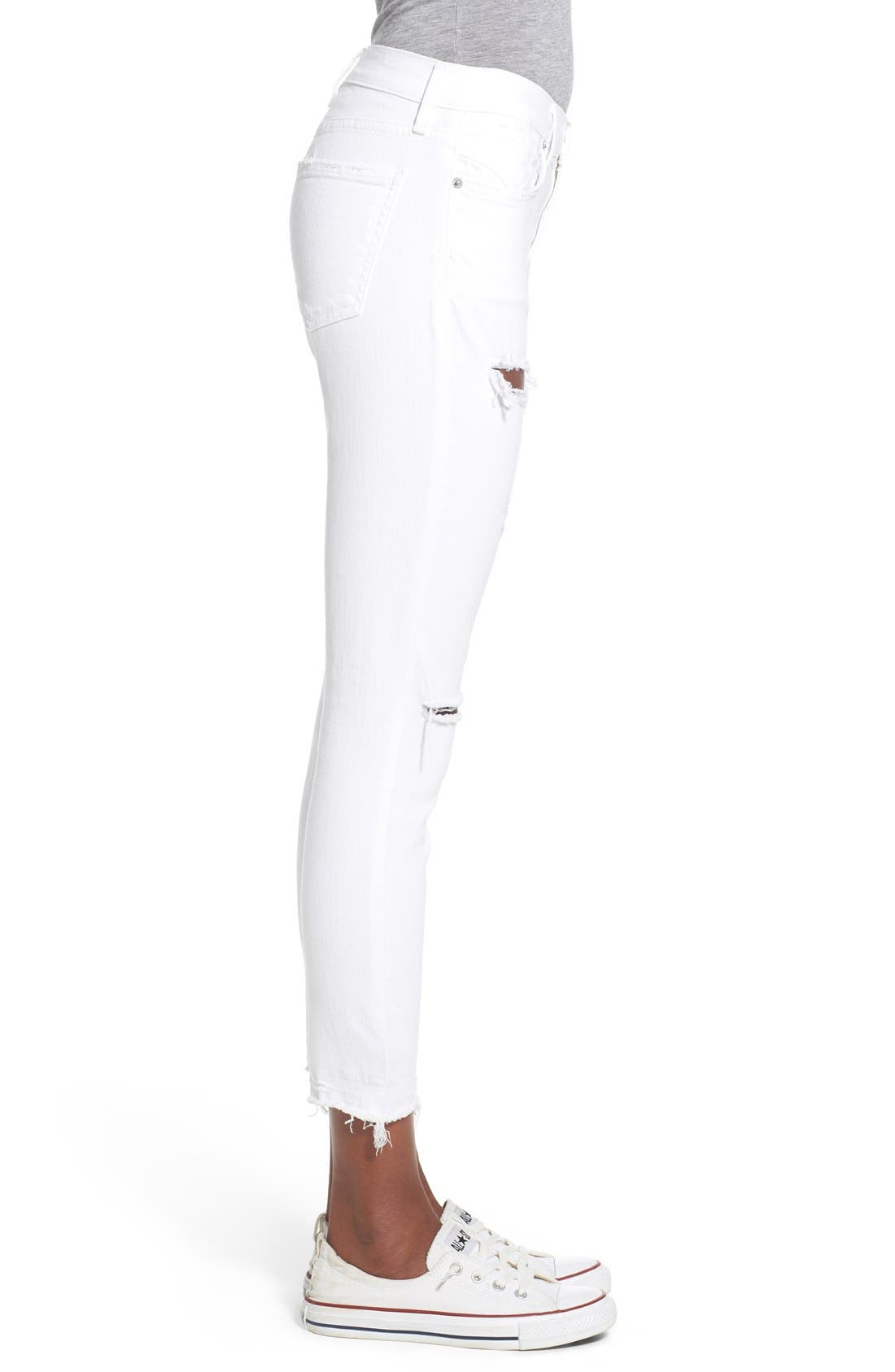 Alternate Image 3  - A Gold E 'Sophie' Distressed Crop Skinny Jeans (Off Spring)