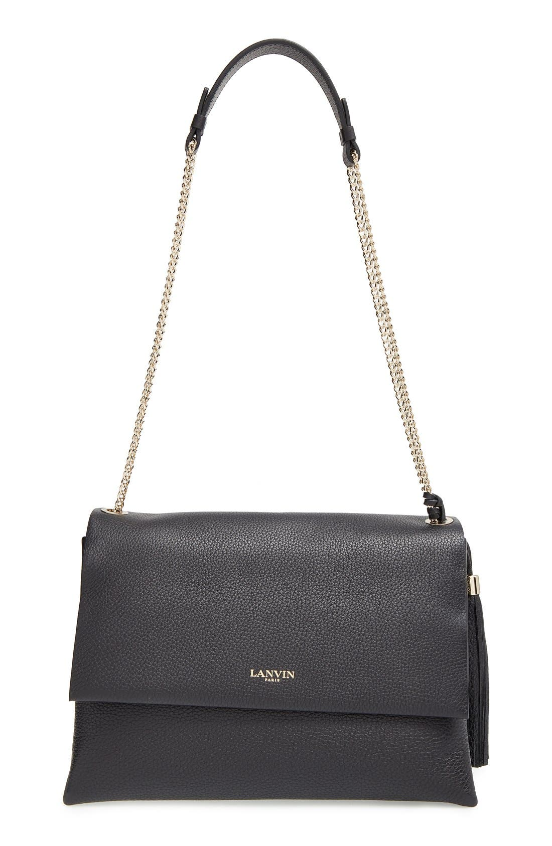 Main Image - Lanvin 'Large Sugar' Tasseled Leather Shoulder Bag
