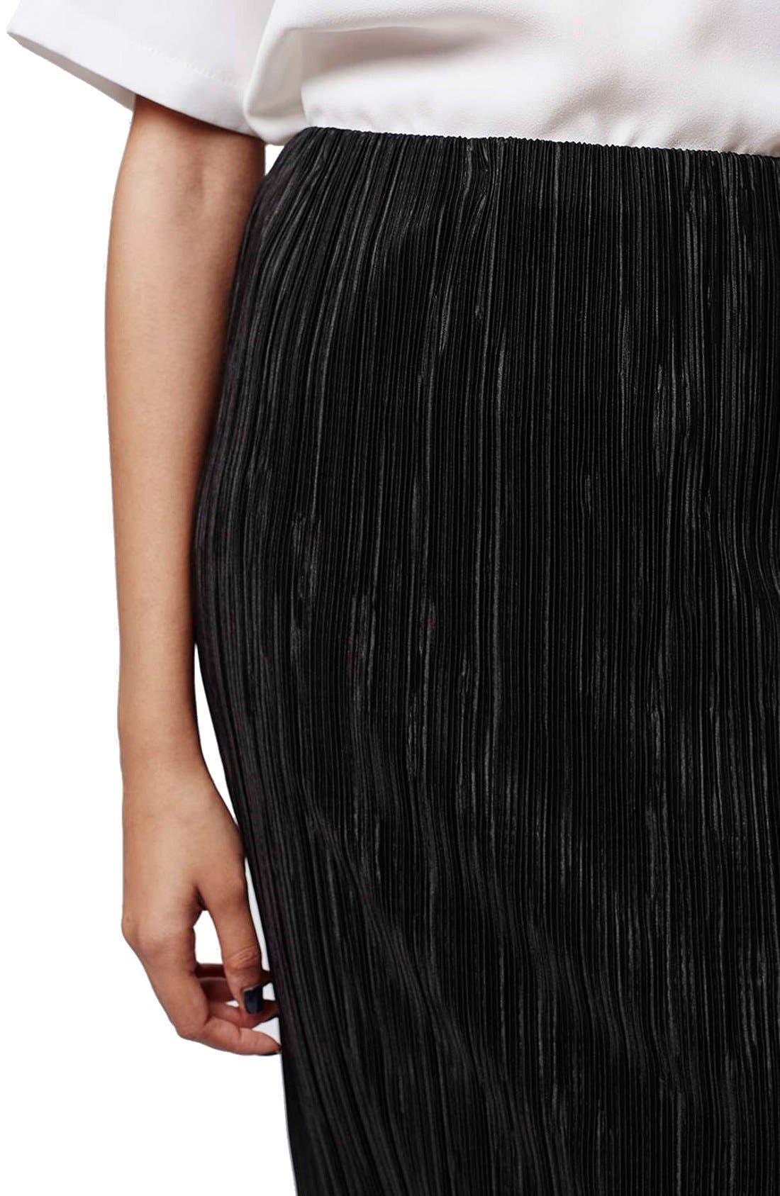 Alternate Image 5  - Topshop Plissé Tube Skirt