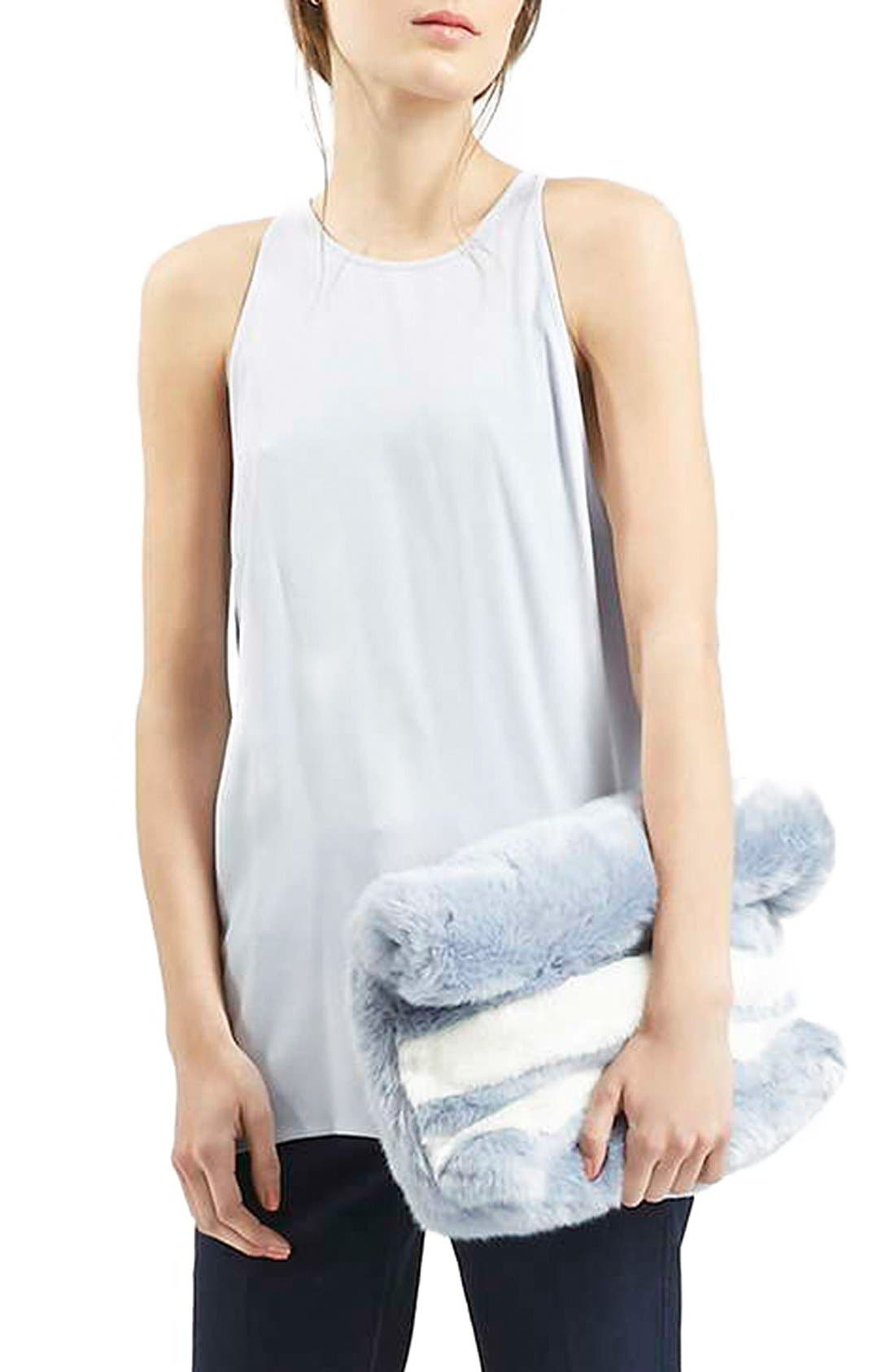 Main Image - Topshop 'Milo' Split Back Sleeveless Top