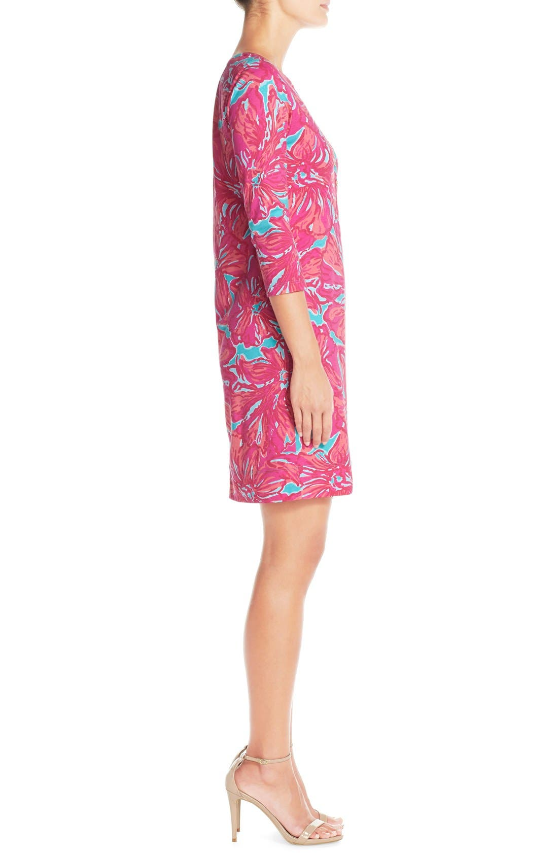 Alternate Image 3  - Lilly Pulitzer® 'Alessia' Print Pima Cotton T-Shirt Dress (Nordstrom Exclusive)