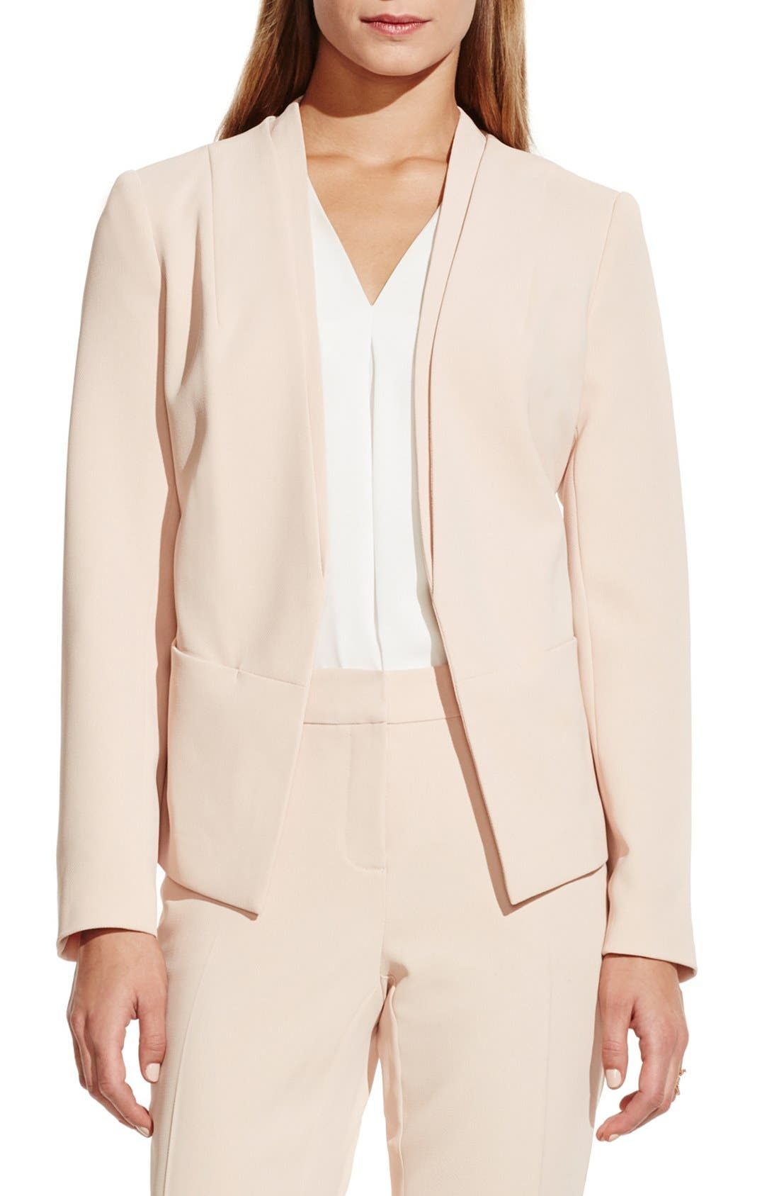 Main Image - Vince Camuto Collarless Open Front Blazer