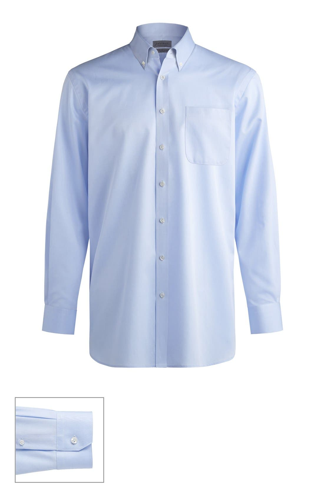 John W. Nordstrom® Made to Measure Classic Fit Button Down Collar Solid Dress Shirt