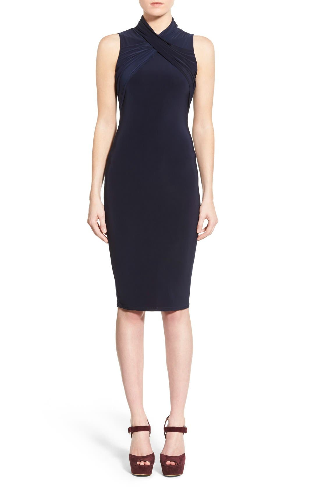 Alternate Image 1 Selected - Missguided Twist Neck Body-Con Dress