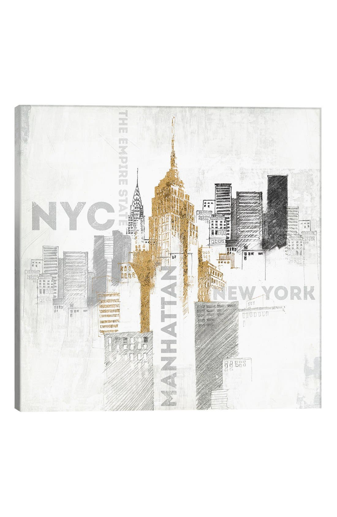 Alternate Image 1 Selected - iCanvas 'Empire State' Giclée Print Canvas Art