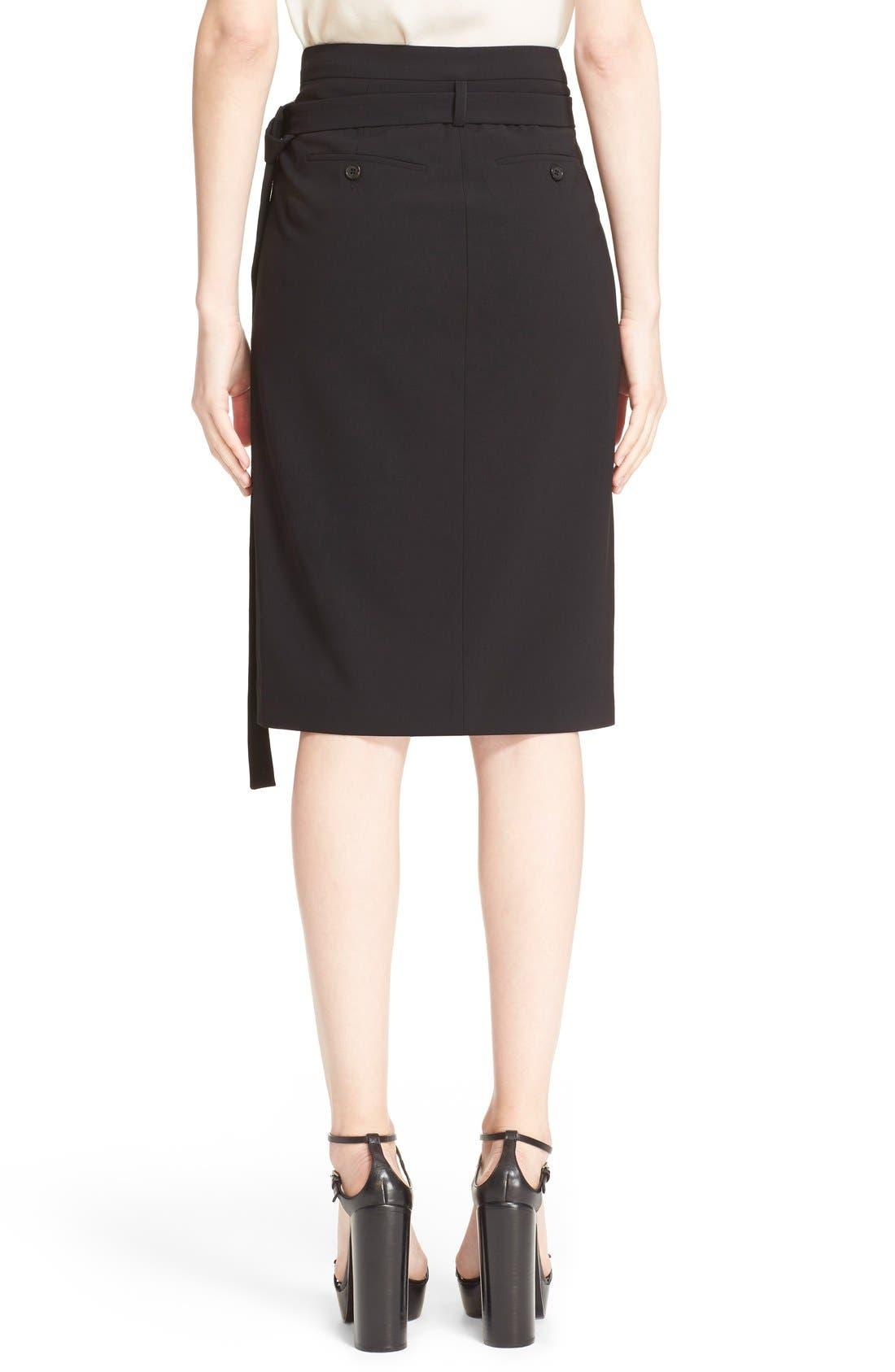 Alternate Image 2  - Michael Kors Belted Wool Wrap Skirt