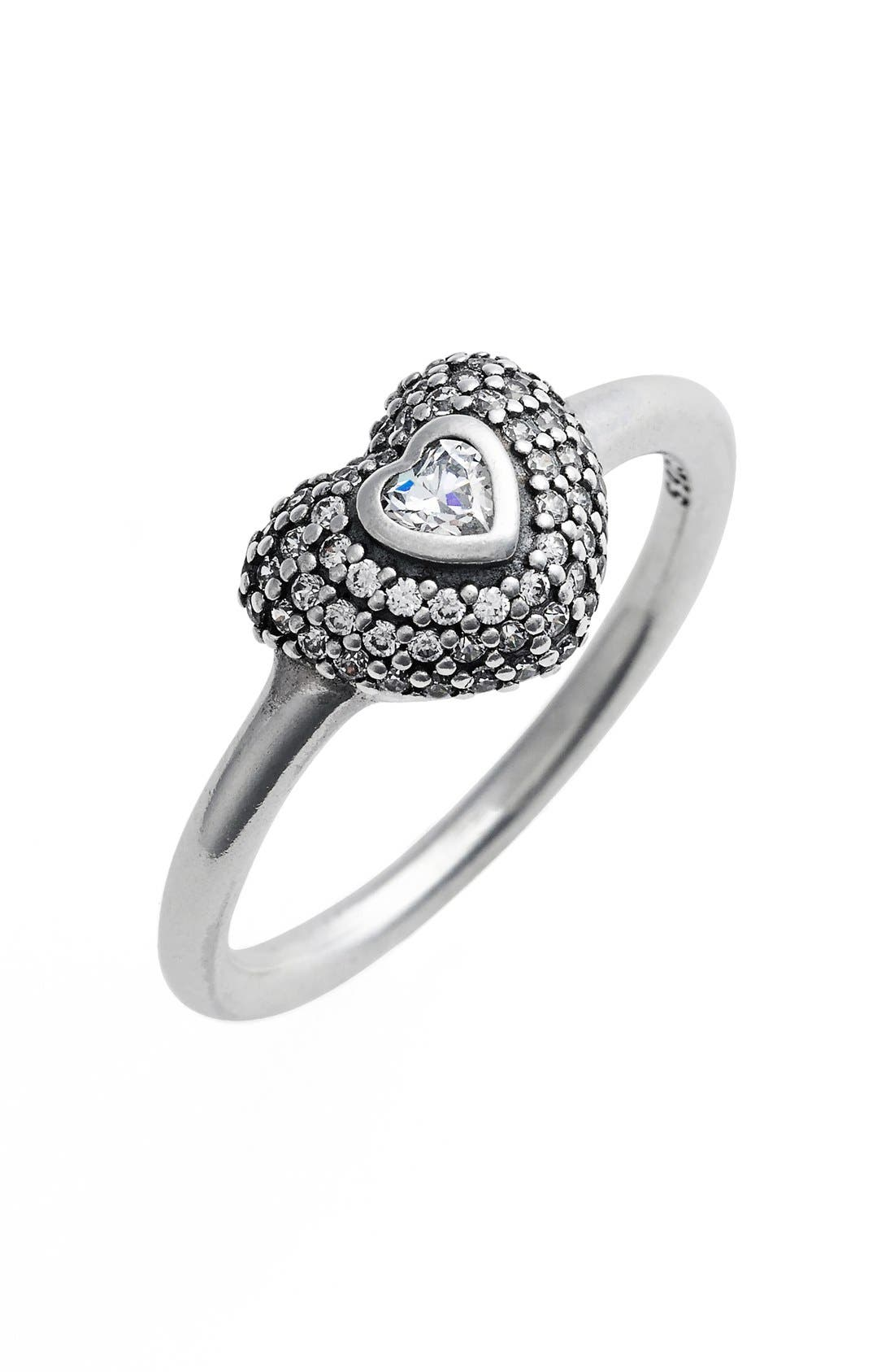 Alternate Image 1 Selected - PANDORA 'In My Heart' Ring