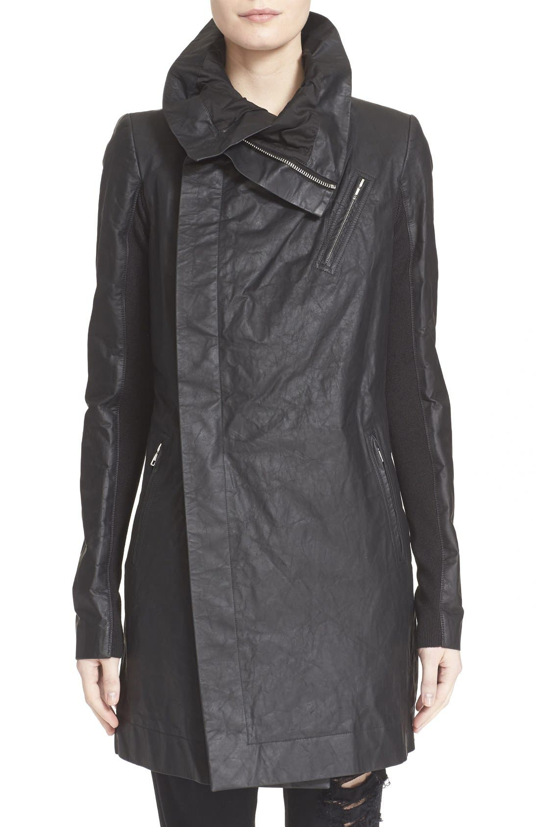RICK OWENS 'Cyclops' Leather Trench Biker Jacket