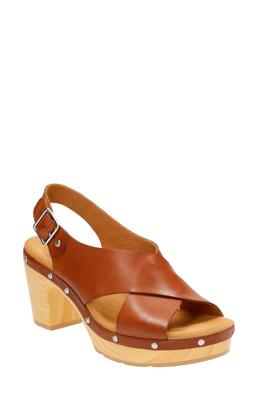 Clarks® 'Ledella Club' Slingback Sandal (Women)