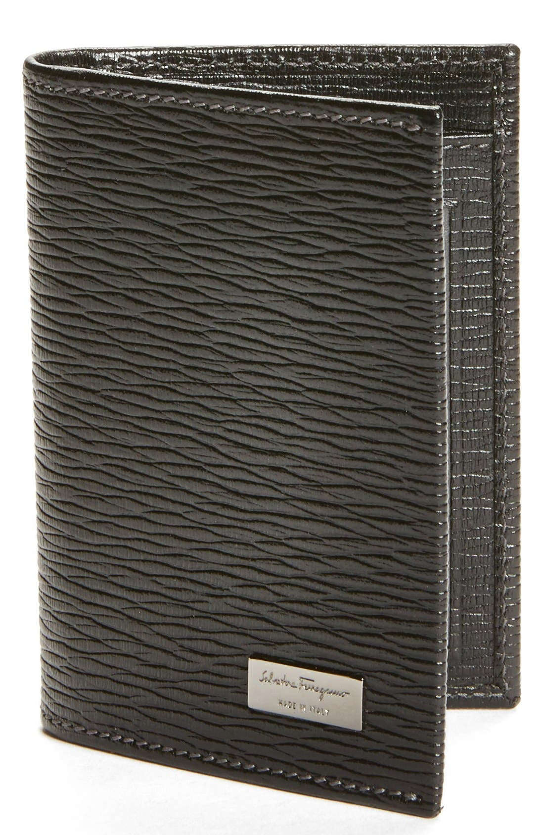 Main Image - Salvatore Ferragamo Stamped Calf Card Wallet