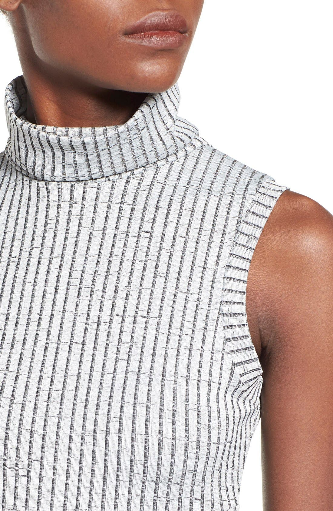 Alternate Image 4  - Missguided Funnel Neck Cutout Midi Dress