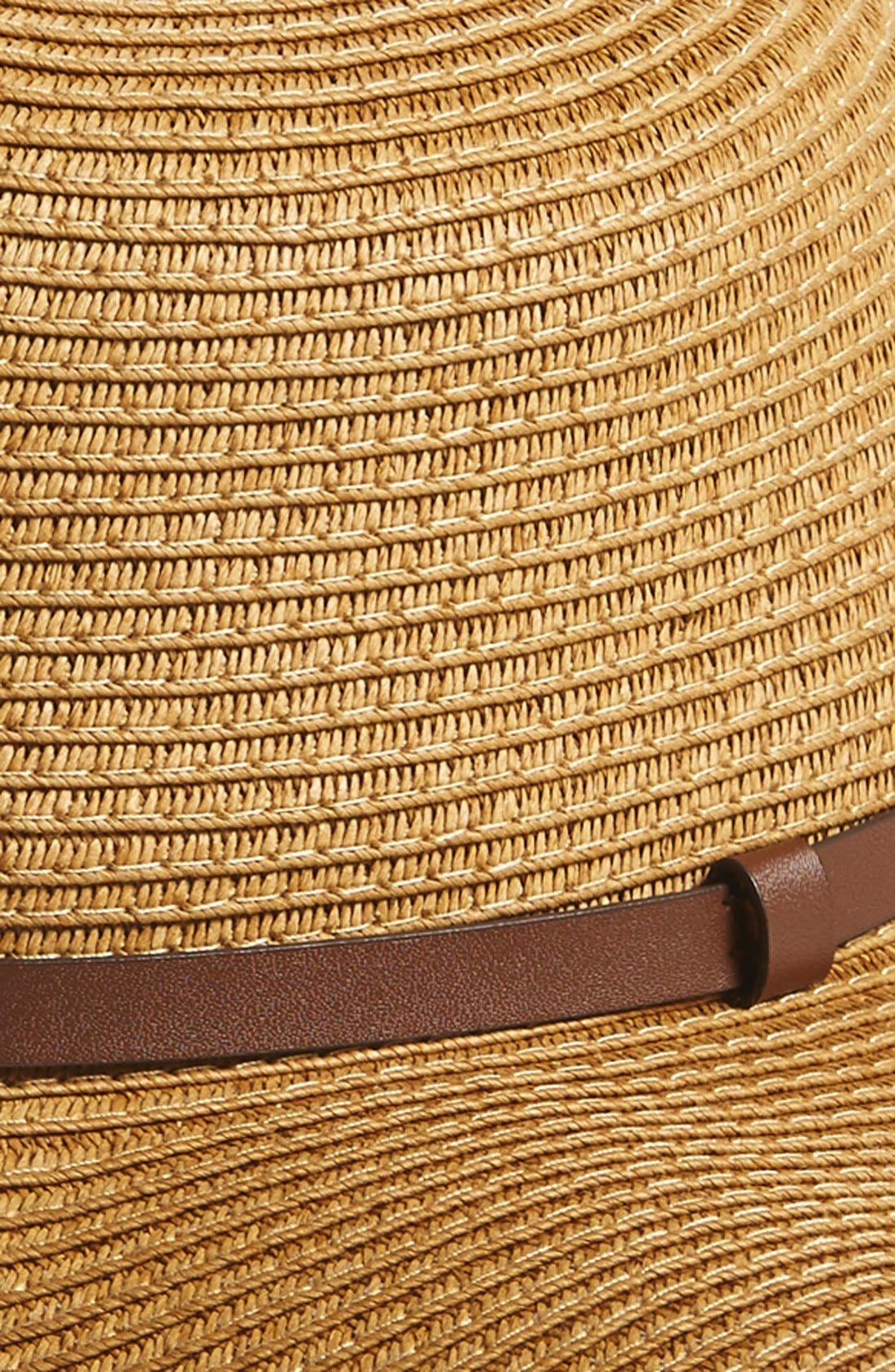 Alternate Image 2  - Nordstrom Braided Straw Floppy Hat