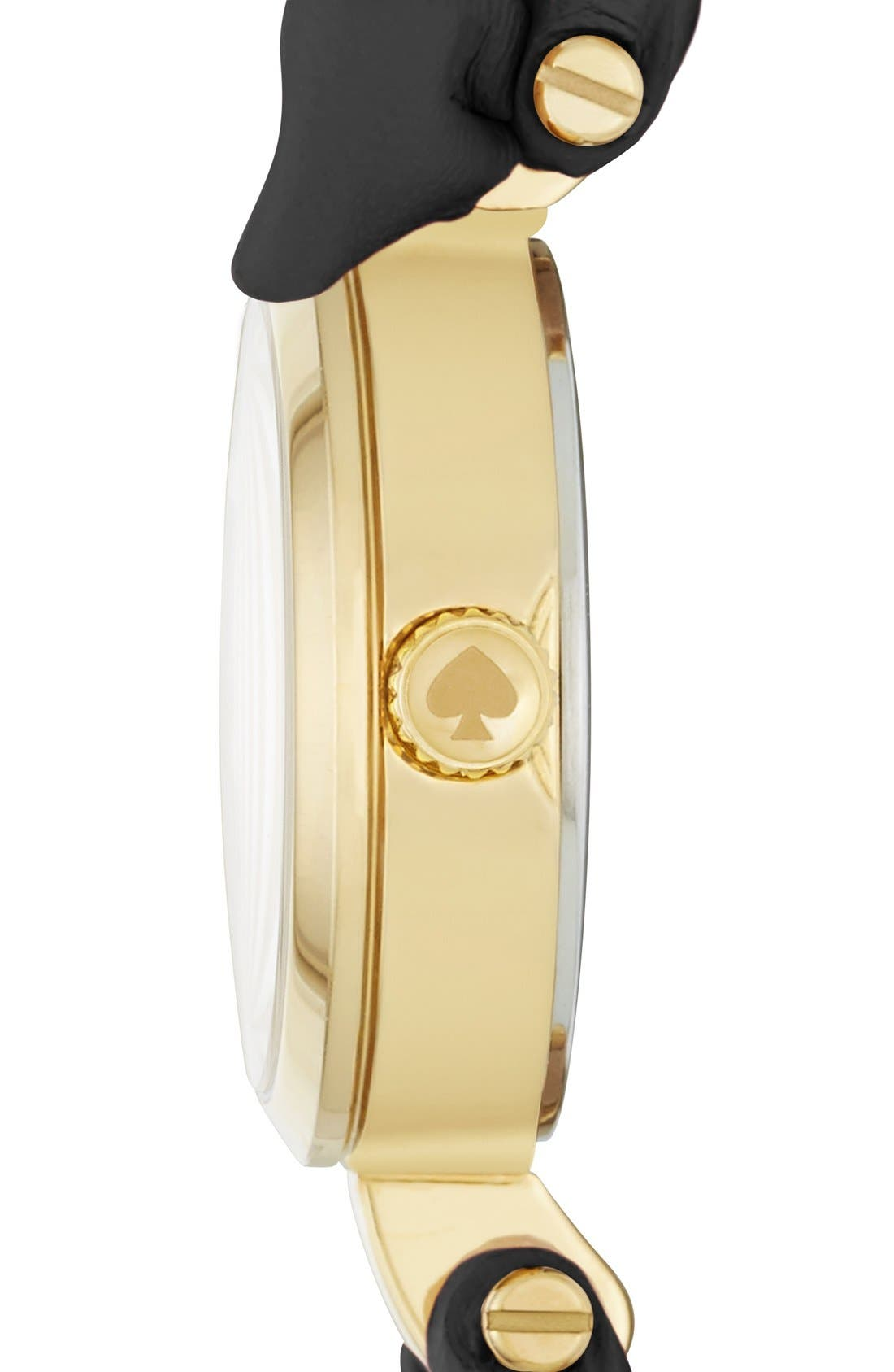 Alternate Image 2  - kate spade new york 'tiny metro - bow' leather strap watch, 20mm