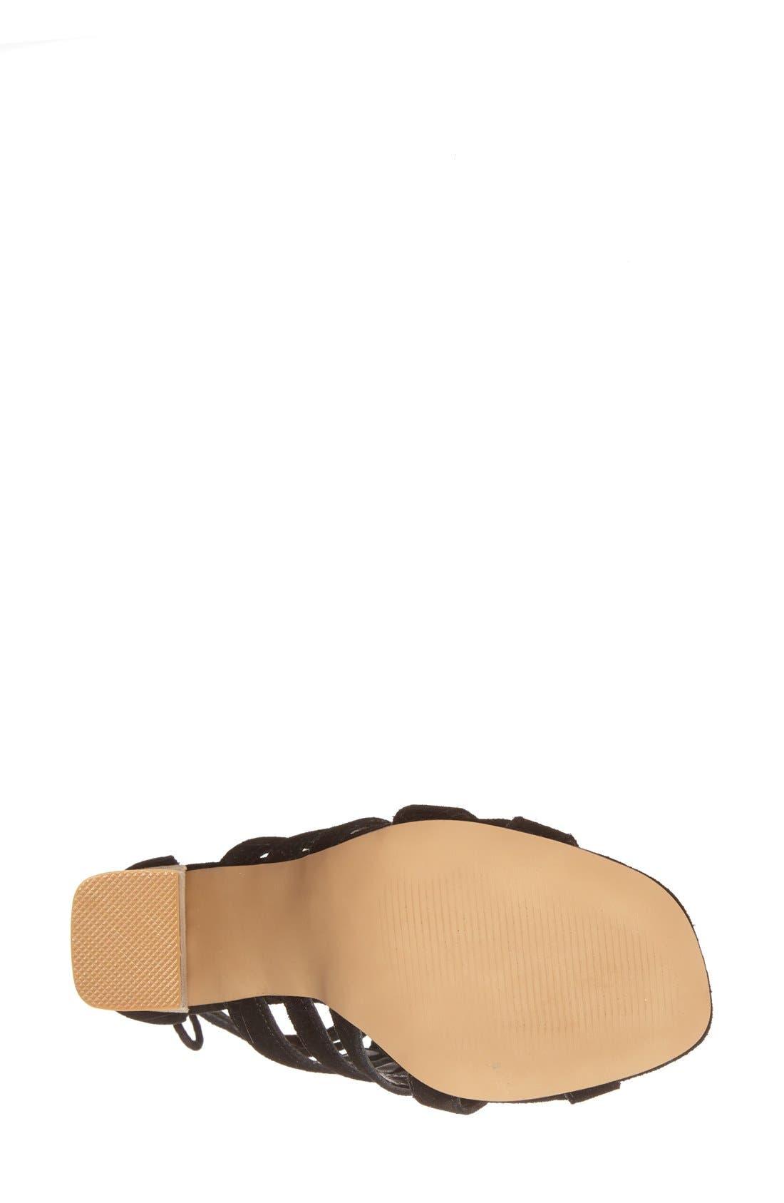 Alternate Image 4  - Steve Madden 'Tasssal' Lace-Up Sandal (Women)