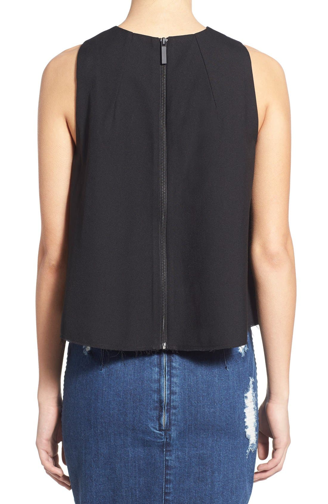 Alternate Image 2  - KENDALL + KYLIE Raw Edge Tank