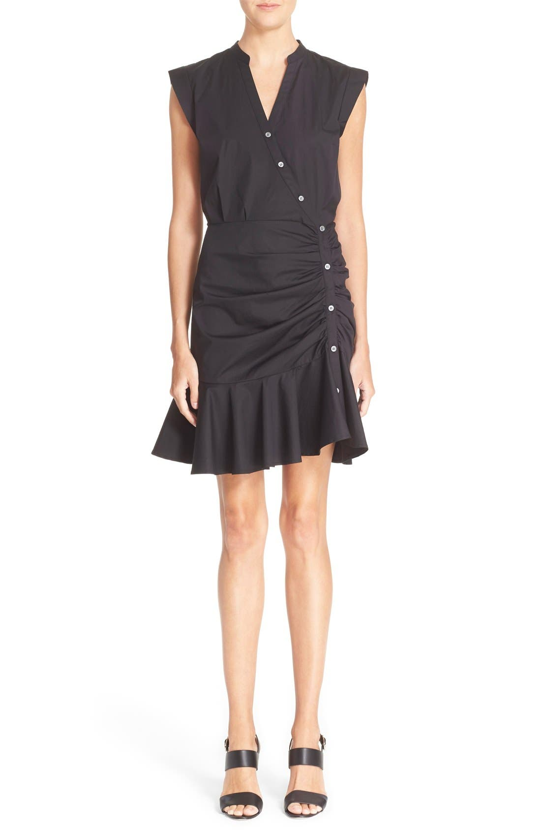 Main Image - Veronica Beard 'Fountain' Cap Sleeve Ruched Dress