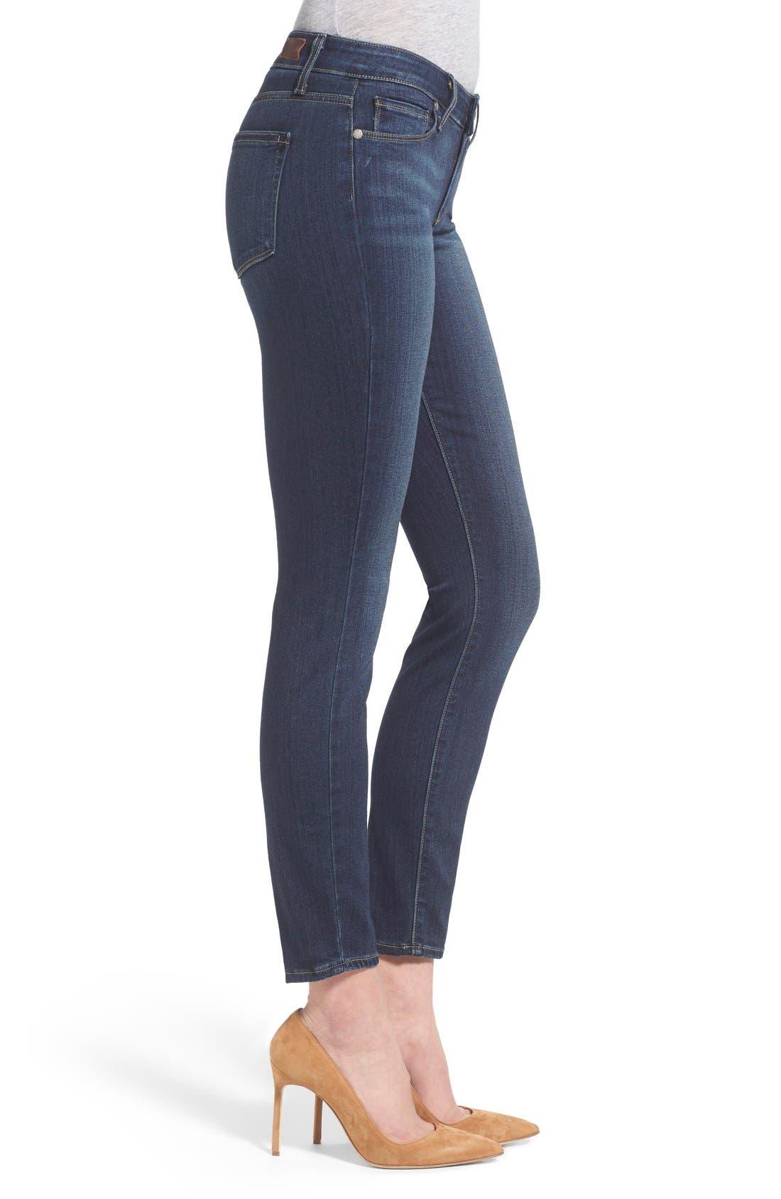 Alternate Image 3  - Paige Denim 'Transcend - Verdugo' Ankle Ultra Skinny Jeans (Nottingham) (Petite)