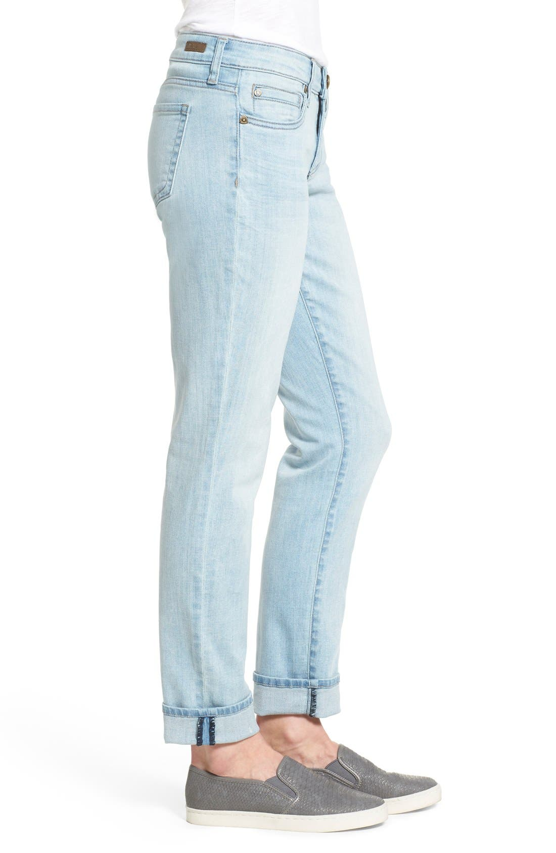 Alternate Image 3  - KUT from the Kloth 'Catherine' Stretch Slim Boyfriend Jeans (Artistic)