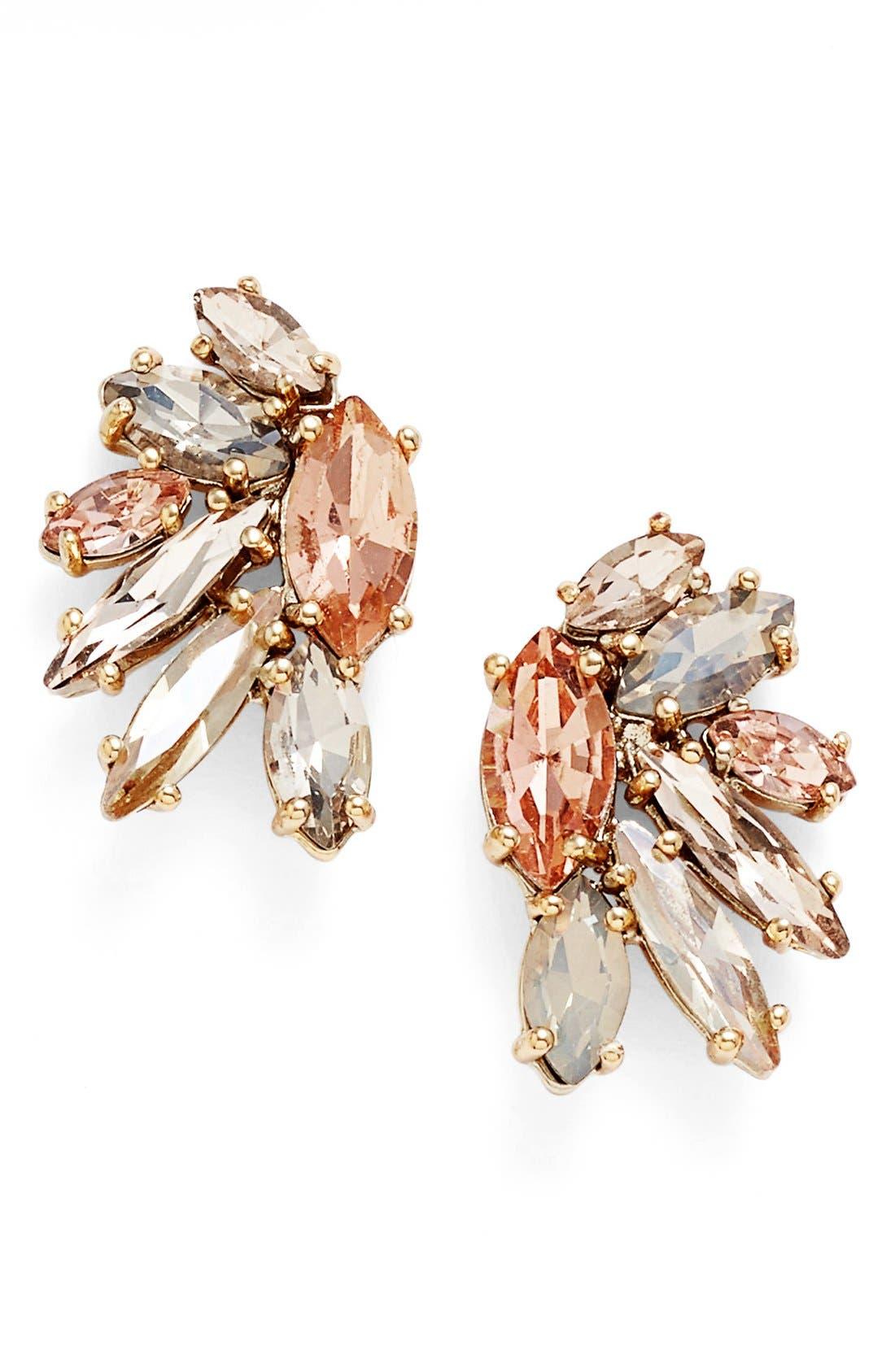 Alternate Image 1 Selected - Marchesa Crystal Cluster Earrings