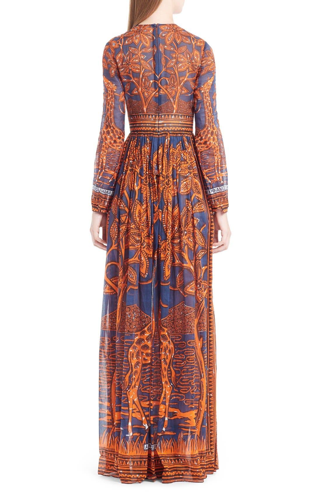 Alternate Image 2  - Valentino Giraffe Print Cotton Gown