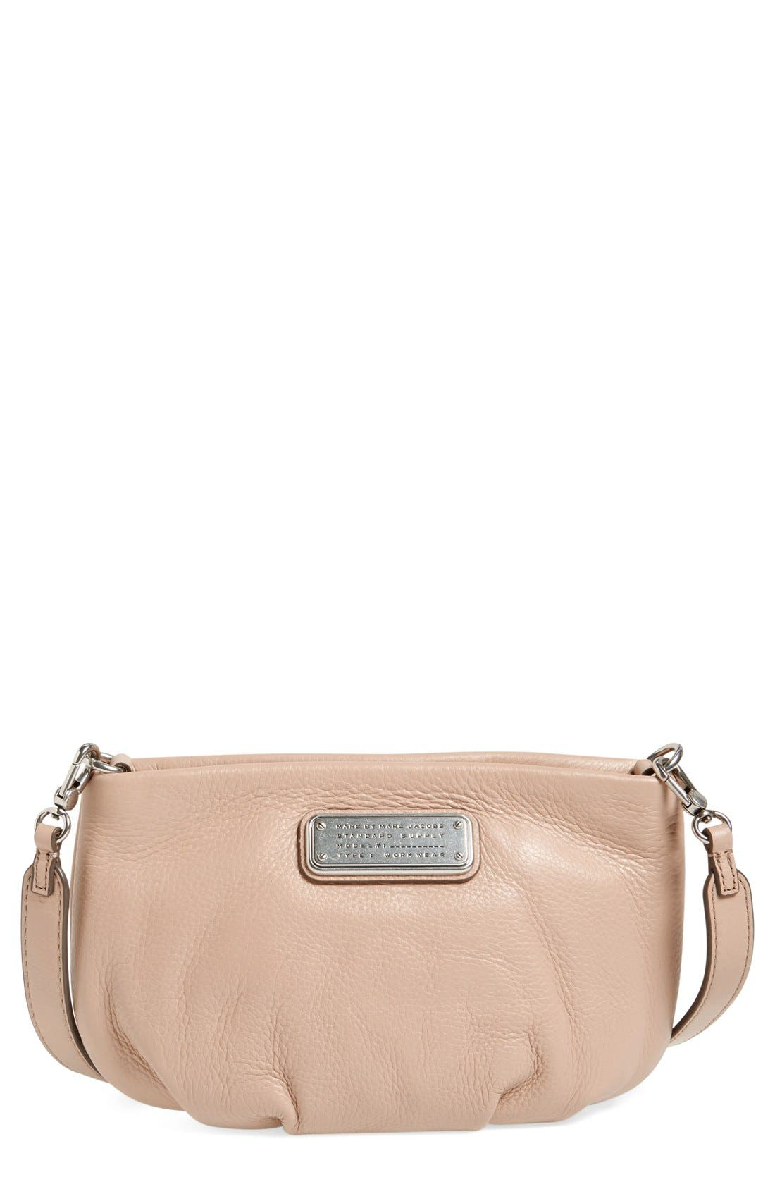 Alternate Image 1 Selected - MARC BY MARC JACOBS 'New Q - Percy' Leather Crossbody Bag