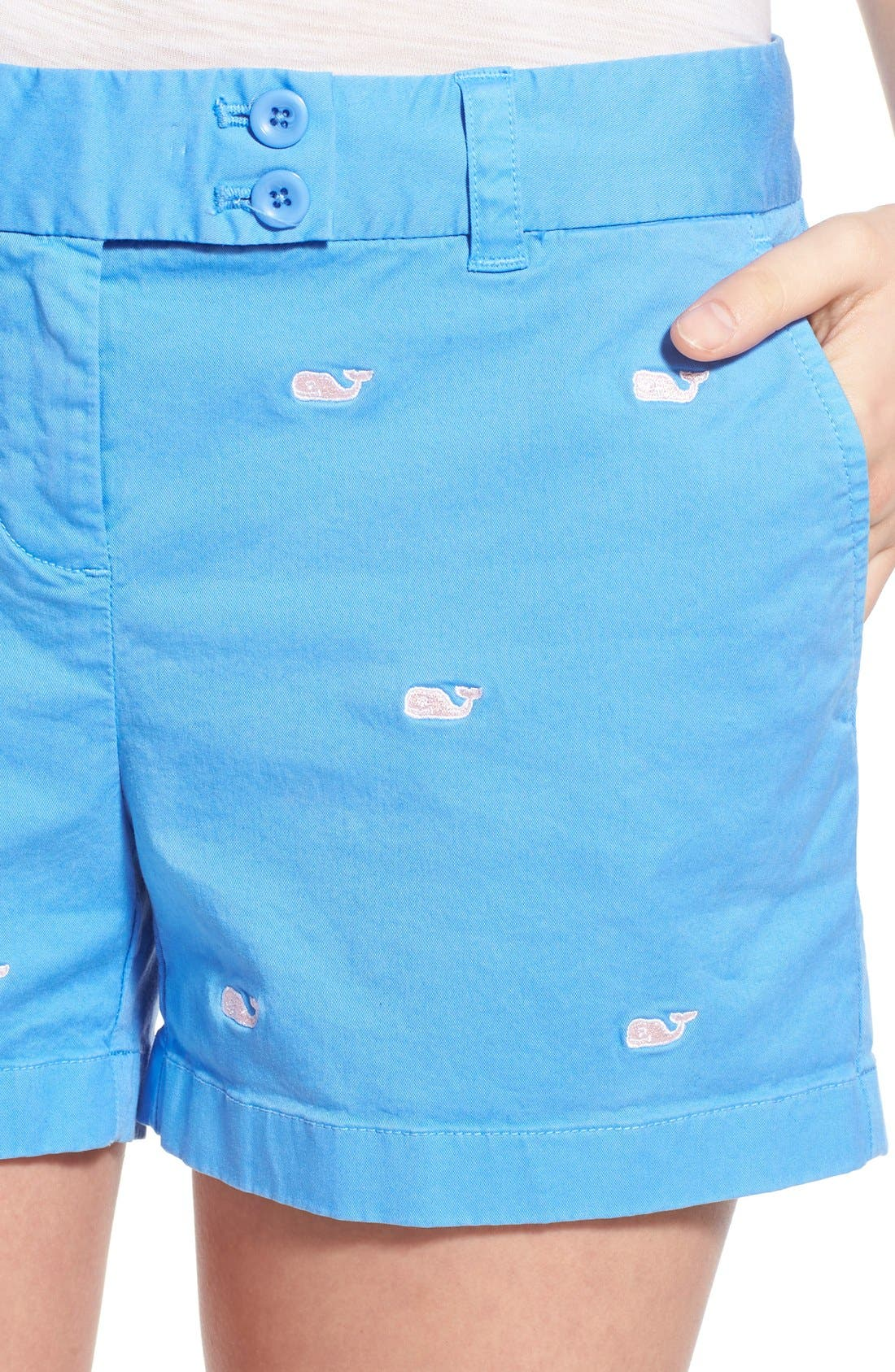 Alternate Image 4  - Vineyard Vines 'Dayboat' Whale Embroidered Stretch Cotton Shorts