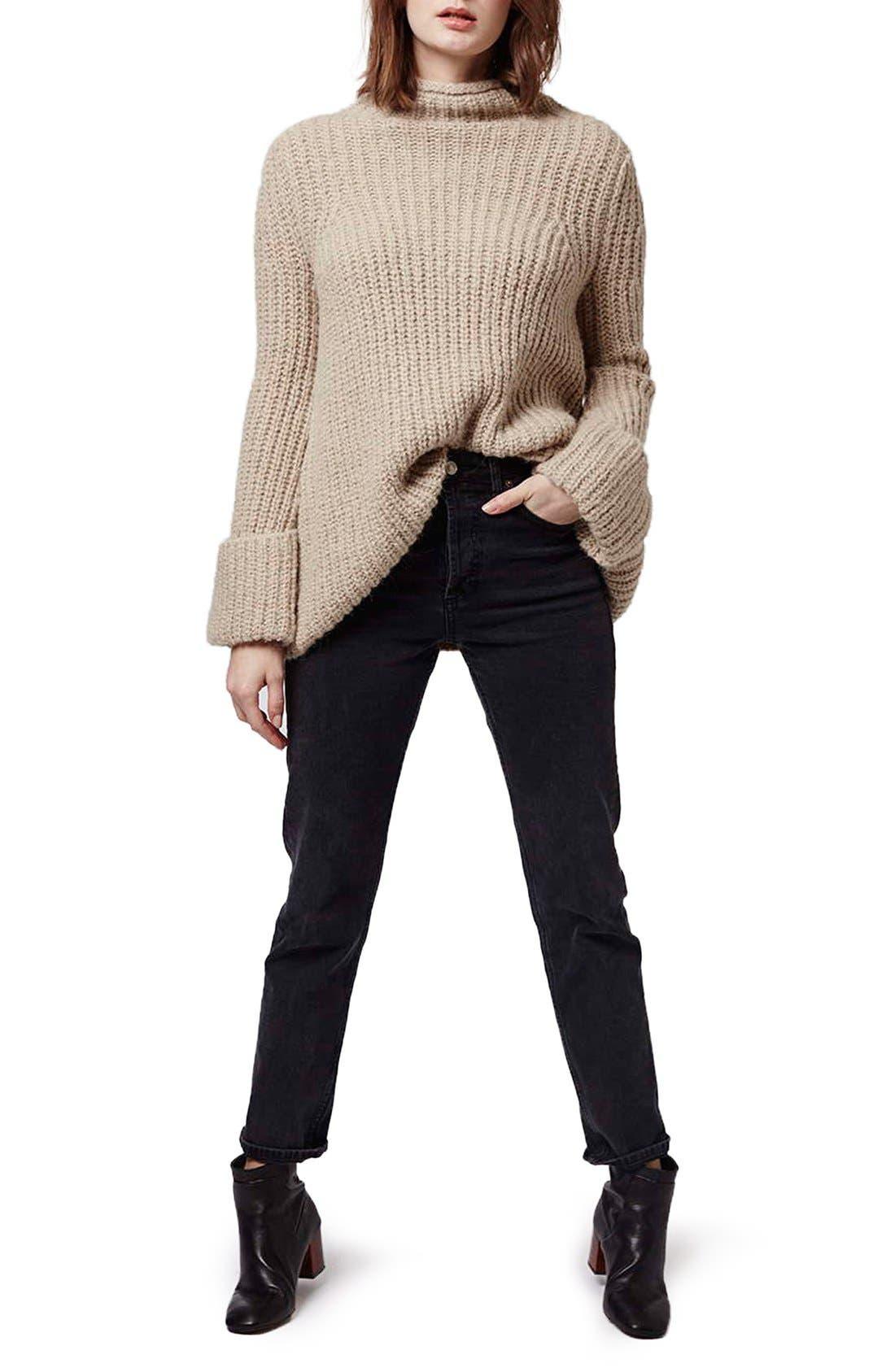 Alternate Image 2  - Topshop 'Jumbo' Funnel Neck Sweater